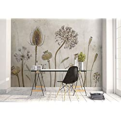 Vlies Fototapete Fotomural - Wandbild - Tapete - Klette Blume Knospe Stemsmacro - Thema Blumen - MUSTER - 104cm x 70.5cm (BxH) - 1 Teilig - Gedrückt auf 130gsm Vlies - 1X-1211143VEM