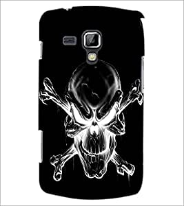 PrintDhaba Skull D-2343 Back Case Cover for SAMSUNG GALAXY S DUOS 2 S7582 (Multi-Coloured)