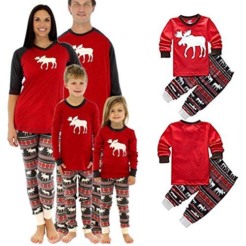 Pijamas De Navidad A Juego Para Toda La Familia Diseno A Rayas Con