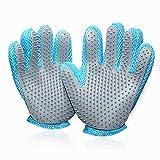 Lemme, guanti per animali domestici, spazzole, guanti Pet per la cura del pelo, in silicone e tessuto, misura piccola (2 pz. per confezione)