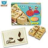 BOGATCHI HAPPY DIWALI Gift Combo - Rajasthan Special Soan Papdi and White Chocolate Bar