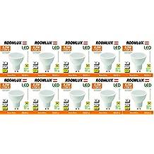 10X Roomlux LED GU10 6.5W 480 lúmenes 3000K,bombillas gu10 led,bombillas,gu10 led,led gu10 3000k,bombilla led,led gu10,gu10 led,bombillas,bombilla,bombilla led,