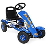 TecTake 401031 Kinder Go-Kart im Racing Design, Blau