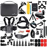 QMetos 53-in-1 Sports Action Camera Accessories Essentials kit for GoPro Hero 8 Max 7 6 5 4 3 2 Session 5 4, Hero7 Black, DJI OSMO, Akaso V50Pro 4k, Ek7000, SJCAM SJ4000,5000, SJ5000X Elite, Yi Lite
