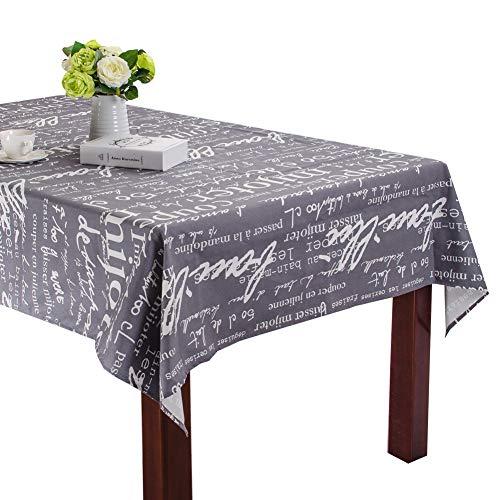 Patrón letras retro mesa comedor algodón sala estar