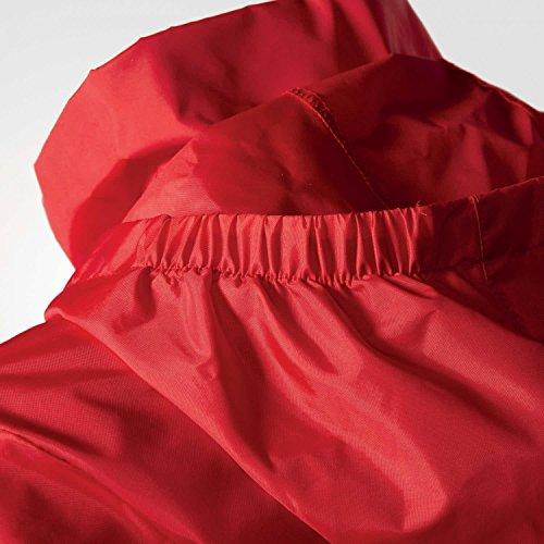 adidas Herren Regenjacke Core rot / weiß