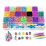 Kit di telai in gomma, fasce elastiche per torsione Set di strumenti per creazione di bracciali Kit per bambini Telaio fai da te