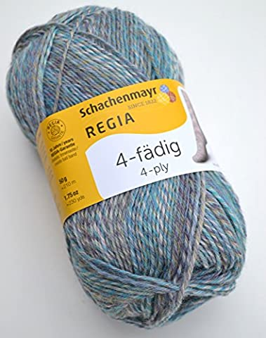 Schachenmayr Regia 4-fädig Color Fb. 2846, 50g Sockenwolle musterbildend