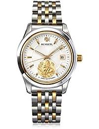 BINLUN Mens Gold Tone Waterproof Automatic Watches Best Gift Zodiac Luxury Watch For Men - Animal MONKEY