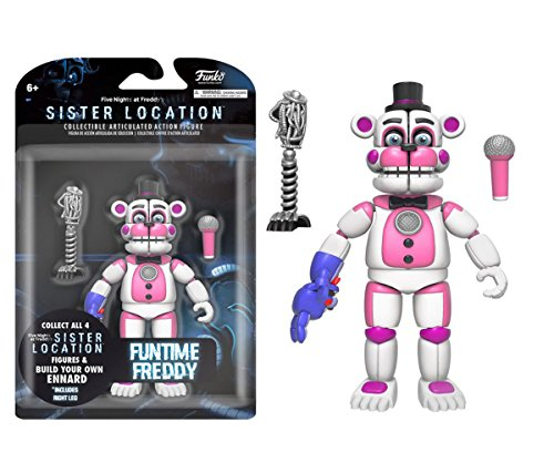 Mozlly Multipack - Funko Five Nights at Freddy's Sister Location Funtime Freddy 5 inch Action Figure Collectible Toy (Pack of 3) - Item #S120061_X3