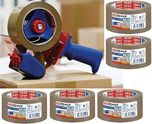 tesa Packband-Abroller mit 6 Rollen tesapack havanna - braun 66m x 50mm