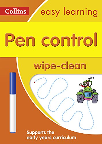 Pen Control Age 3-5 Wipe Clean Activity Book (Collins Easy Learning Preschool) Test