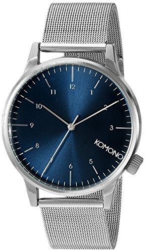 Orologio da Polso Unisex Komono Winston Royale KOM-W2353, Argento/Blu