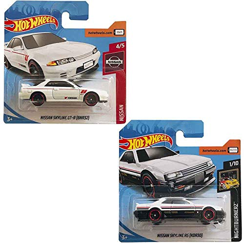 Hot Wheels Pack Two Cars - Nissan Skyline GT-R (BNR32) 1/250 and Nissan Skyline RS (KDR30) 48/250