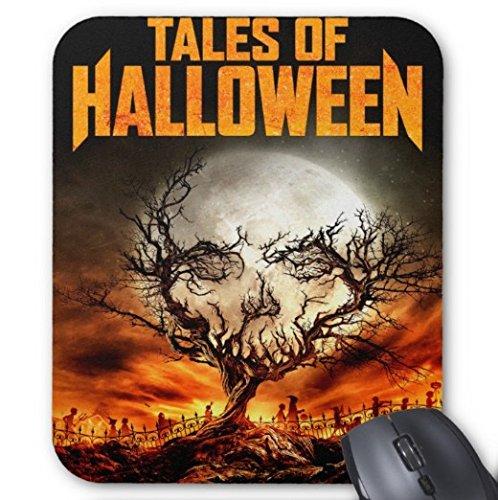 Gaming Mouse Pad Geschichten von Halloween Design für Desktop und Laptop 1 Pack 25x20cm / 9.8x7.9in