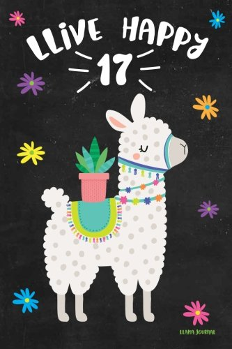 Llama Journal LLive Happy 17 Cute Birthday Years Old Notebook For