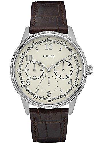 Guess Reloj Multiesfera para Hombre de Cuarzo con Correa en Cuero W0863G1