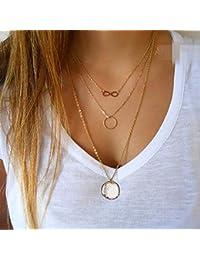 Yean collar multicapa collar para las mujeres y las niñas