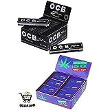 Scoria Blak OCB King Size Rolling Paper Pack Of 50 Full Box (1600 Leaves) + Full Roach Book Pad Box