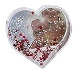 Dorr Herzform Snow Globe Bilderrahmen–rot