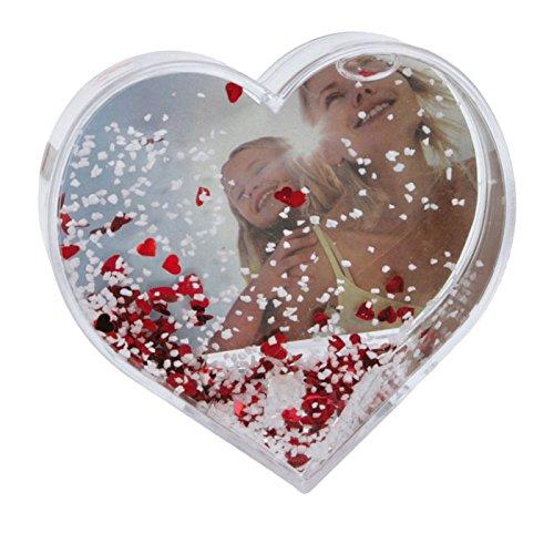 Dorr en forma de corazón del marco Globo de la nieve de archivo - Red