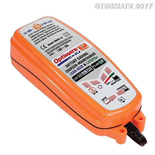 TecMate OptiMATE DC to DC Ladegerät TM500, 12V-Ladegerät für 12V-Batterien/Gleichstromversorgung - Volt 12 Dc-batterie-ladegerät