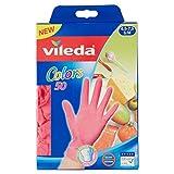 Vileda Colors Nitril 50 Einmalhandschuh, Gr. S/M (farblich sortiert), 4er Pack (4 x 50 Stück)
