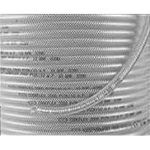 Camozzi Pvcb 8Y tubo intrecciato in PVC rinforzato, 12mm di diametro, 8mm ID, bobina di 30m, giallo