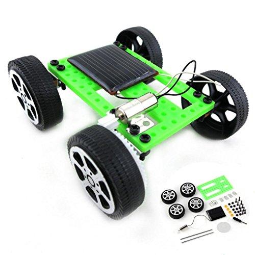 Gaddrt Mini Énergie solaire DIY Voiture, Jouet Trousse Enfants Éducatif Gadget Loisir Drôle Pour Création, 1 Set (Vert+Noir)
