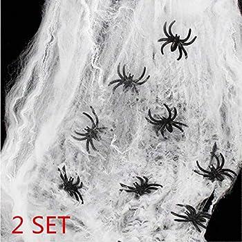 Ragnatela Bianca Estensibile per Addobbi e Decorazioni Halloween Guirca 16878