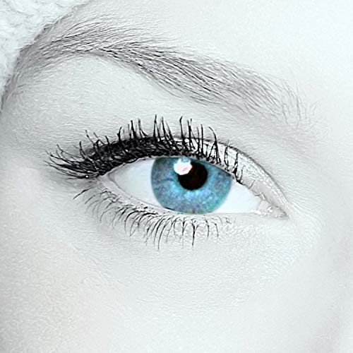 Eye-Effect Blaue farbige Kontaktlinsen Jahreslinsen, mehrfarbig / 0 Dioptrien, 2 Stück