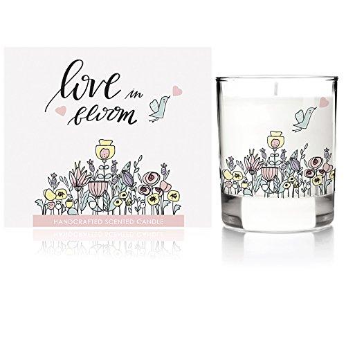 We Love Home - Candela profumata 100% vegetale con profumo di giardino in fiore modello Love Garden
