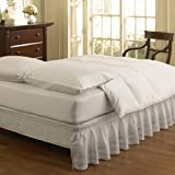 Easy Fit Ruffled Eyelet Bed Skirt, Queen...