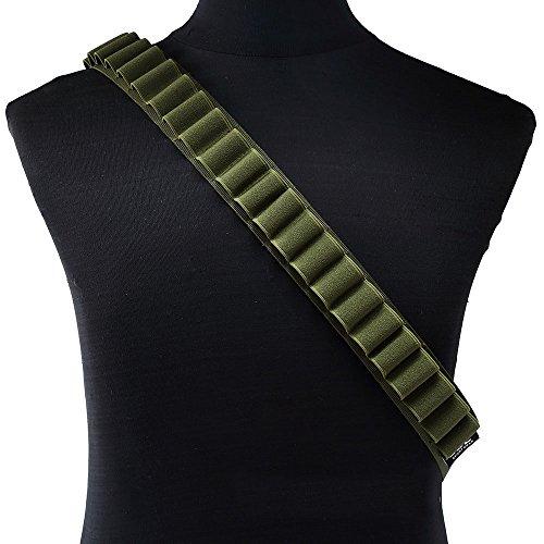 Papamsy ?Portable Outdoor 27 Kugel Tasche Shotgun Shell Halter Gürtel Sling Patronengürtel|3 Farbe|Grün
