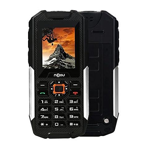 NOMU T10 IP68 Wasserdicht Outdoor Handy,Senioren Drei SIM Staubdicht Stoßfest Ohne Vertrag Große Tasten mit Kamera Taschenlampe FM Radio 2800mAh Akku , für (Sim Ohne Vertrag)