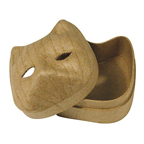 Rayher - 7138700 - Pappmaché-Box, Katze, 8x7,5x5,5 cm