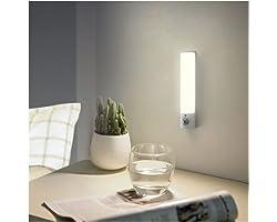 Luce notturna con sensore di movimento, ricaricabile tramite USB, a batteria, LED per interni, con magnete rimovibile, per ca
