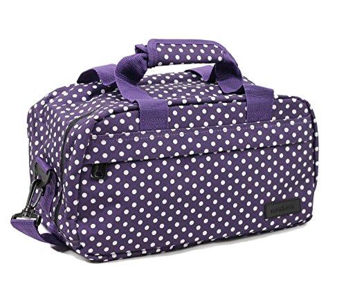 Members Essential secondo bagaglio a mano autorizzato da Ryanair, Red (rosso) - SB-0043 Purple & White Polka Dots