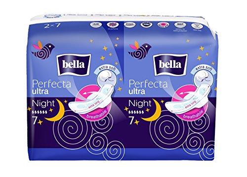 Bella Perfecta Ultra Damenbinden Night Extra Soft, 7er Pack (7 x 14 Stück)
