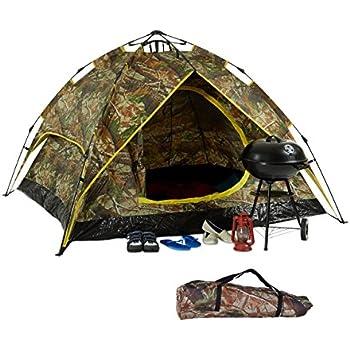 Tbest 1//2//3-4 Personen Camping Kuppelzelt Dome Zelt Familienzelt Campingzelt Outdoor Camouflage UV Schutz Wasserdicht 3-4 Personen Zelt f/ür Familie Camping Wandern