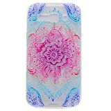 Anlike Silikon Hülle für Alcatel One Touch Pop C9 Handy Hülle Bunte Muster Design Schutzhülle Etui Bumper für Alcatel One Touch Pop C9 - Mandala Blume