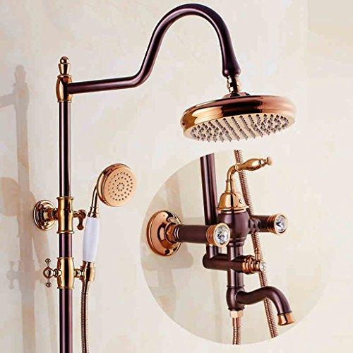 L'insieme dell'acquazzone americano misura il vestito pieno europeo della stanza da bagno di rame dell'acquazzone caldo e freddo del rubinetto dell'acquazzone ( größe : Diamonds )