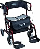 Wickelkommode - Drive Medical metallic Rollator Diamond Deluxe, rot