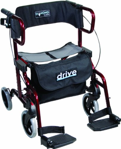 Drive Medical metallic Rollator Diamond Deluxe, ro...