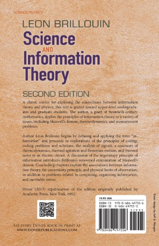 Science and Information Theory: Second Edition (Dover Books on Physics)