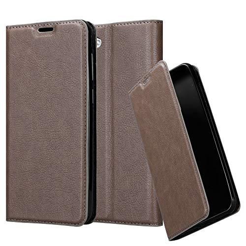 Cadorabo Hülle für HTC Desire 12 - Hülle in Kaffee BRAUN – Handyhülle mit Magnetverschluss, Standfunktion und Kartenfach - Case Cover Schutzhülle Etui Tasche Book Klapp Style