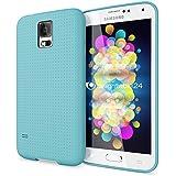 Samsung Galaxy S5 S5 Neo Hülle Handyhülle von NICA, Ultra-Slim Case Cover, Dünne Punkte Schutzhülle, Etui Handy-Tasche Back-Cover Bumper, TPU Silikon-Hülle für Samsung S5 Neo S5 - Mesh Türkis