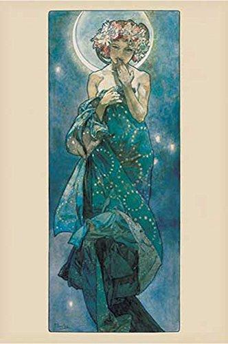Mucha, Alphonse - La Lune, Moon - Poster Kunst Gemälde Jugendstil - Grösse 61x91,5 cm + 1...