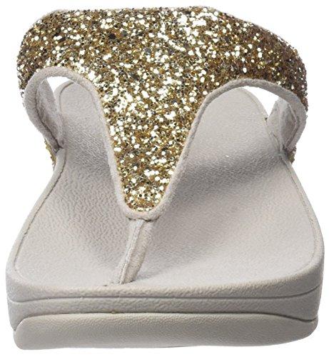 Fitflop Damen Pallavolo Glitterball T-spangen Sandalen Oro