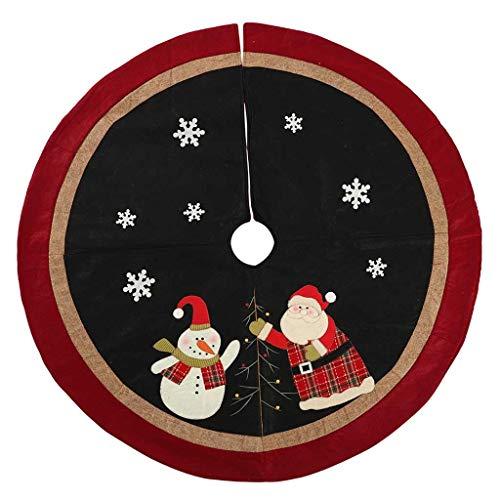 AMUSTERღ AMUSTER Weihnachtsbaumdecke Weihnachtsdeko Weihnachtsbaum Rock Plaid Weihnachtsbaum Decke Weihnachtsbaum - Schneekugel Kostüm